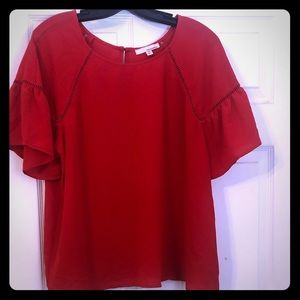 Red June & Hudson blouse Xl